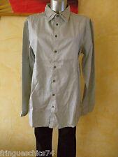 luxueuse chemise grise homme HIGH USE taille M 44 NEUVE ETIQUETTE