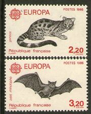 PAIRE TIMBRES 2416-2417 NEUF XX LUXE - EUROPA 1986 - ANIMAUX SAUVAGES