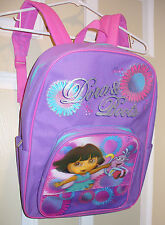 NICKELODEON DORA EXPLORER & BOOTS BACKPACK PURSE~NEW~PURPLE & ADORABLE FLORAL