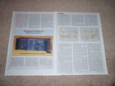 Soundcraftsmen Ra 7503 Amplificador Revisión, 2 Pgs, 1981 , Rara
