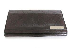 GUCCI Dark Brown GG Leather Wallet