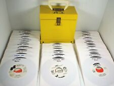 PROMO Lot of 50 SOUL ROCK DOOWOP - 45 rpm Record In Hard Storage Carry Case