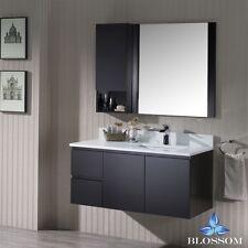 """BLOSSOM 42"""" MONACO WALL-MOUNT SINGLE SINK BATHROOM VANITY IN ESPRESSO"""