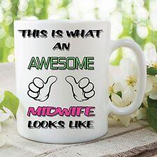 Funny Novelty Mug Awesome Midwife Looks Like Birthday Ceramic Cup Gift WSDMUG99