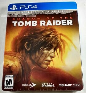 Shadow of the Tomb Raider CROFT STEELBOOK EDITION Sealed PS4 Game PlayStation