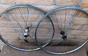 Vintage Shimano XT MTB Wheels Mavic 231 rims 7 speed Mountain Bike