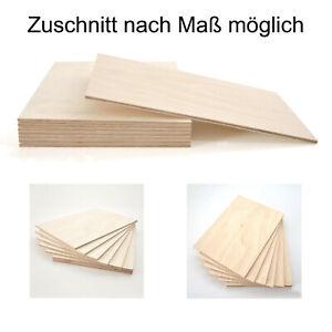 5mm Sperrholz Birke Furnier Multiplex  Platte Zuschnitt Holz Regalboden Basteln
