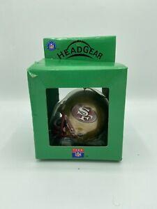 Vintage San Francisco 49ers Head Gear Christmas Ornament Triatic