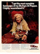 Vintage advertising print Soft Drink Dr Pepper Fortune Teller Black Cat 1970 ad