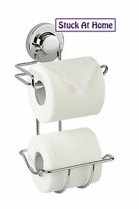 Naleon Ultimate Suction Combo Toilet Roll Holder-Storage Bathroom Caravan Rental