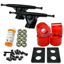 HD7 Longboard Combo set - Black trucks (Gel Red)
