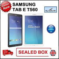 New Samsung Galaxy Tab E 9.6 Inch SM T560 8GB Wi-Fi Android Tablet Black White