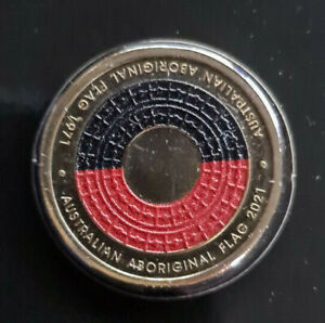 2021 Australian Two Dollar $2 coin - ABORIGINAL FLAG Anniversary UNC ex mint set
