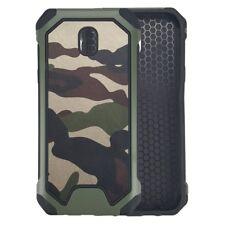 Samsung Galaxy J3 (2017) Trekking Handy Cover TPU Army Camouflage Tarn Hülle Bag