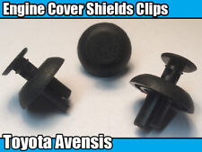 10x Toyota Avensis Engine Cover Clips Plastic Fasteners Motor Shields Panels