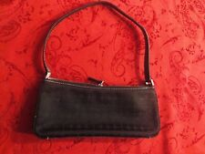 Authentic KATE SPADE Handbag BlackDot Noel Small Baguette Handbag w/ Blk Leather