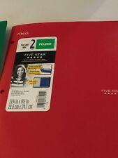 NEW Mead Five Star  Folder 2 Pocket Plastic