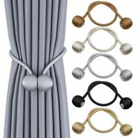 2 Stk. Magnetische Vorhang Gardinen Halter Raffhalter Magnetverschluss Zugband