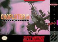 Choplifter III 3  Super Nintendo Game SNES Used