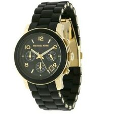 SALE Michael Kors Ladies Runway Chronograph Black Watch MK5191