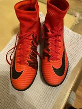 Nike Mercurial X Flyknit Indoor Soccer Cleats Red Athletic Football Men's 10.5