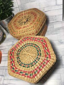 Traditional Handmade Nesting Basket Set Of 2 Handmade Baskets