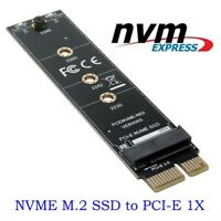 NGFF M.2 NVMe SSD TO PCIE 3.0 X1 adapter M Key interface card Test card