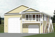 36x40 Apartment with 1-Car 1-RV Garage -- 902 sqft -- PDF Floor Plan -- Model 1E