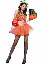 Pumpkin Princess Costume Tube Top and Tutu S/M Ladies Halloween UK Seller