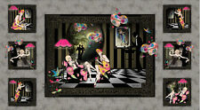 "Dance Romance Ladies Gentlemen Roses Cotton Fabric SPX #25096 - 24""X44"" PANEL"