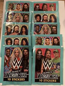 Topps Wwe Road To Wrestlemania 10 Packets 10 Stickers Per Pack 20/21