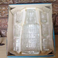 Vintage Luminarc Decanter and Six Glasses Verrerie cristallerie D'Arques France