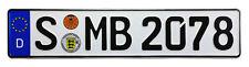 Mercedes Stuttgart Rear German License Plate by Z Plates wtih Unique Number NEW
