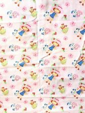 STRAWBERRY SHORTCAKE Cotton Fabric - 1.3 yards - Sewing Quilting Cutter Material