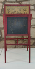 Vintage Children Chalkboard Folding Easel Style Wood Frame