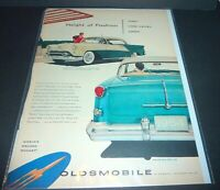 "OLDSMOBILE NINETY EIGHT DELUXE  ROCKET  1954  14"" x 10 1/2""   LIFE MAGAZINE AD"