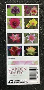 2021USA #5558-5567b Forever Garden Beauty - Booklet of 20 Mint  flowers