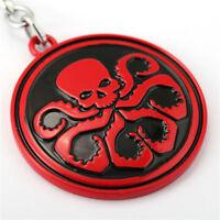 New Hydra Agents Of SHIELD Red Skull Enamel Novelty Keyring Keychain Gift Bag