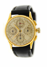 Universal Geneve Dato Compax Cal 285 18K Yellow Gold Watch 12495