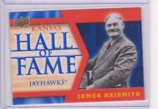 2013 Upper Deck Kansas Jayhawk Hall of Fame #HOF1 James Naismith SP KU