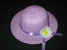 "NEW ""PURPLE DAISY"" Dress Up Party Girls Easter Straw Hat Clothes Toddler Kid Tea"