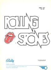 Service manual Rolling Stones Bally Pinball