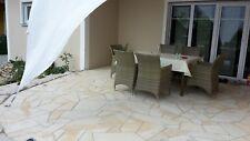 Toscana Polygonalplatten Poolumrandung Naturstein 13-19mm crema 40qm