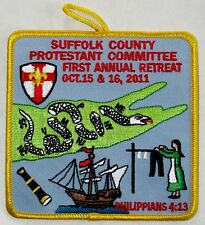 Suffolk Co Council (NY) 2011 Protestant Committee Retreat Pocket Patch  BSA
