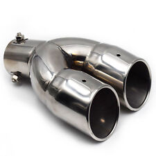 "61mm/2.4"" Stainless Steel Auto Car Rear Dual Exhaust Pipe Tail Muffler Tip Dossy"