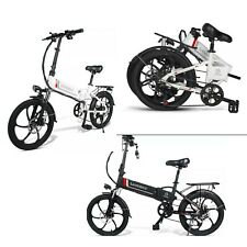 New Electric Bike 20 Inch Power Assist Foldable E-Bike 350W 48V Bicycle 2 colors