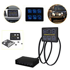 12V 24V 6 Gang LED Touch Screen Slim Switch Control Panel Car Boat Truck Marine