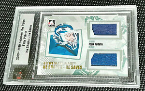 2009-10 ITG BETWEEN THE PIPES HSHS - FELIX POTVIN - GAME JERSEY & GLOVE