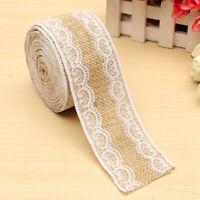 5M Natural Jute Hessian Burlap Tape Ribbon Lace Trim Craft Rustic Wedding Decor