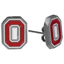 "Ohio State Buckeyes Stud Earrings (""O"") NCAA Licensed Jewelry"